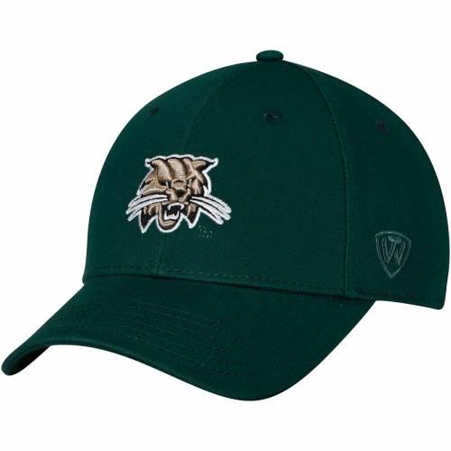 TOP OF THE WORLD オハイオ ボブキャッツ スナップバック バッグ 緑 グリーン キャップ 帽子 メンズキャップ メンズ 【 Ohio Bobcats Observer Adjustable Snapback Hat - Green 】 Green