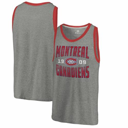 FANATICS BRANDED コレクション タンクトップ 【 FANATICS BRANDED MONTREAL CANADIENS TIMELESS COLLECTION ANTIQUE STACK TRIBLEND TANK ASH 】 メンズファッション トップス タンクトップ
