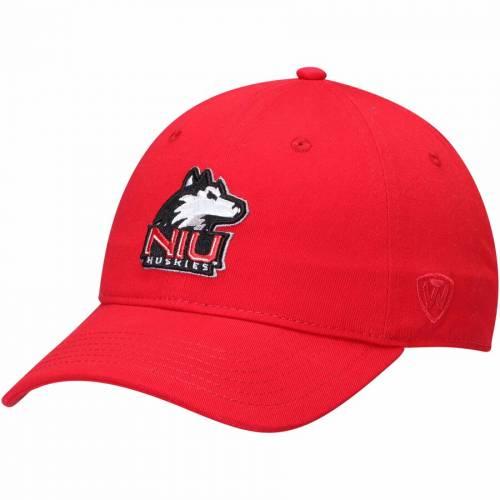 TOP OF THE WORLD イリノイ ストライク 赤 カーディナル バッグ キャップ 帽子 メンズキャップ メンズ 【 Northern Illinois Huskies Strike Unstructured Adjustable Hat - Cardinal 】 Cardinal