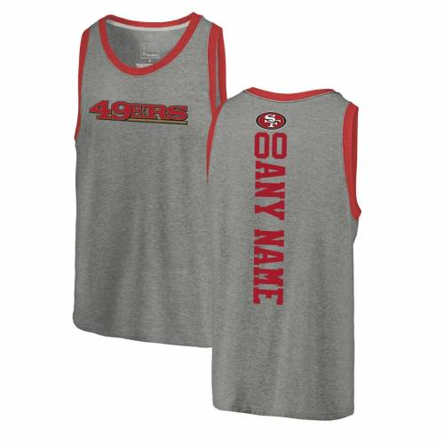 NFL PRO LINE BY FANATICS BRANDED フォーティーナイナーズ プロ タンクトップ 【 SAN FRANCISCO 49ERS PERSONALIZED BACKER TRIBLEND TANK TOP ASH 】 メンズファッション トップス 送料無料