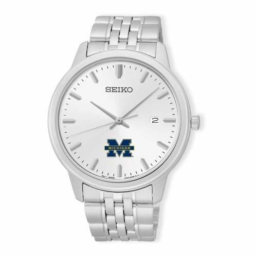 SEIKO ミシガン ステンレス 銀色 スチール ウォッチ 時計 シルバー 【 WATCH SILVER SEIKO MICHIGAN WOLVERINES ANALOG QUARTZ STAINLESS STEEL 】 腕時計 メンズ腕時計