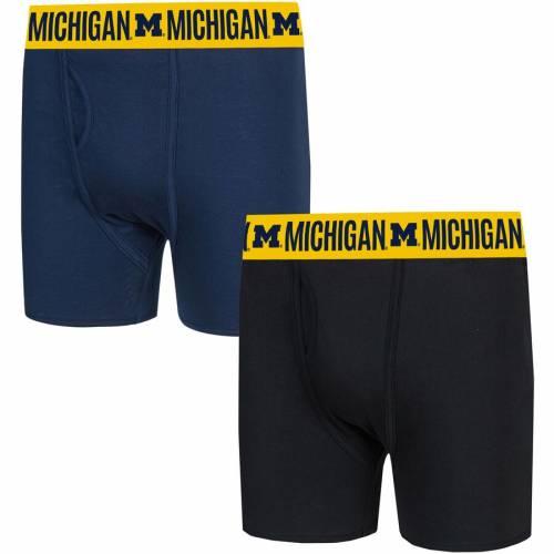 CONCEPTS SPORT ミシガン インナー 下着 ナイトウエア メンズ 【 Michigan Wolverines Duo Boxer Briefs - Navy/black 】 Navy/black