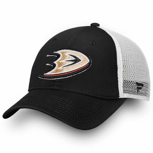 FANATICS BRANDED コア トラッカー スナップバック バッグ 黒 ブラック キャップ 帽子 メンズキャップ メンズ 【 Anaheim Ducks Core Trucker Ii Snapback Adjustable Hat - Black 】 Black