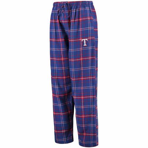 CONCEPTS SPORT テキサス レンジャーズ アルティメイト インナー 下着 ナイトウエア メンズ ナイト ルーム パジャマ 【 Texas Rangers Ultimate Plaid Flannel Pants - Royal/red 】 Royal/red