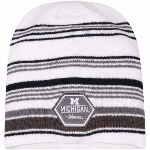 TOP OF THE WORLD ミシガン ニット キャップ 帽子 白 ホワイト バッグ メンズキャップ メンズ 【 Michigan Wolverines Channel Knit Beanie - White 】 White
