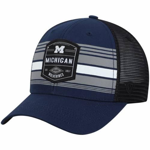 TOP OF THE WORLD ミシガン トラッカー スナップバック バッグ キャップ 帽子 メンズキャップ メンズ 【 Michigan Wolverines Branded Trucker Adjustable Snapback Hat - Navy/black 】 Navy/black