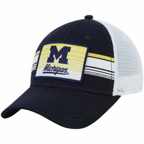 TOP OF THE WORLD ミシガン トラッカー 紺 ネイビー バッグ キャップ 帽子 メンズキャップ メンズ 【 Michigan Wolverines Breeze Trucker Adjustable Hat - Navy 】 Navy