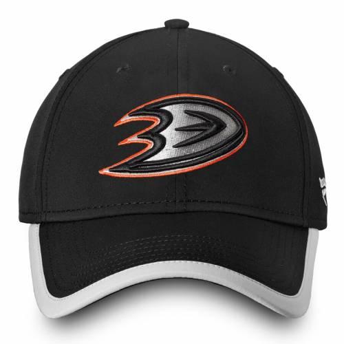 FANATICS BRANDED オーセンティック プロ スピード 黒 ブラックSPEED BLACK FANATICS BRANDED ANAHEIM DUCKS AUTHENTIC PRO CLUTCH FLEX HATバッグキャップ 帽子 メンズキャップ 帽子L3Ajc54qSR