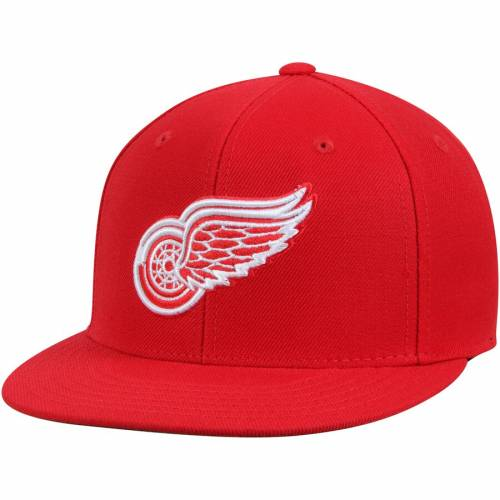 AMERICAN NEEDLE デトロイト 赤 レッド ディープ バッグ キャップ 帽子 メンズキャップ メンズ 【 Detroit Red Wings Deep Dish Fitted Hat - Red 】 Red