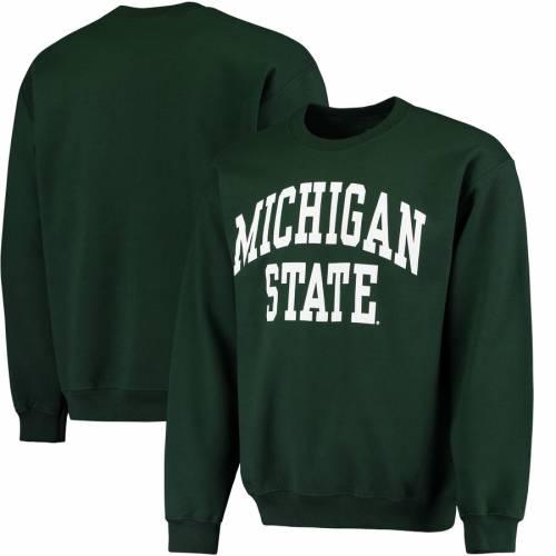 FANATICS BRANDED ミシガン スケートボード 緑 グリーン メンズファッション トップス スウェット トレーナー メンズ 【 Michigan State Spartans Basic Arch Sweatshirt - Green 】 Green
