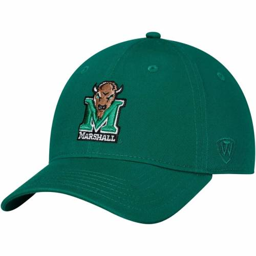 TOP OF THE WORLD ストライク 緑 グリーン バッグ キャップ 帽子 メンズキャップ メンズ 【 Marshall Thundering Herd Strike Unstructured Adjustable Hat - Green 】 Green