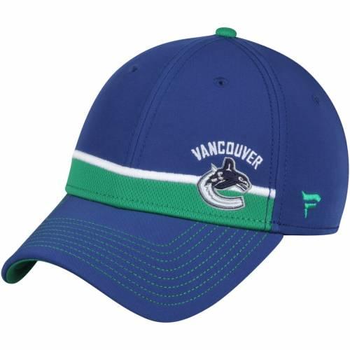 FANATICS BRANDED ストリーク スピード 青 ブルー バッグ キャップ 帽子 メンズキャップ メンズ 【 Vancouver Canucks Iconic Streak Speed Stretch Fitted Hat - Blue 】 Blue