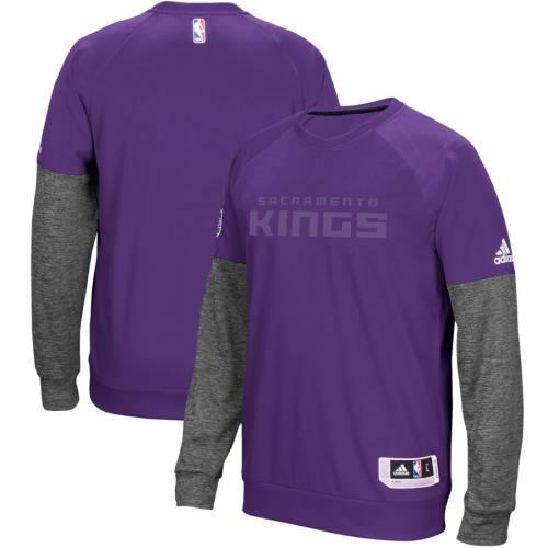 アディダス ADIDAS サクラメント キングス ハーフ 紫 パープル メンズファッション トップス スウェット トレーナー メンズ 【 Sacramento Kings 2016 Christmas Day Second Half Pullover Sweatshirt - Purple