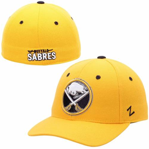 ZEPHYR バッファロー 黄色 イエロー バッグ キャップ 帽子 メンズキャップ メンズ 【 Buffalo Sabres Alternate Crosscheck Fitted Hat - Yellow 】 Yellow