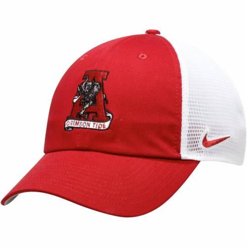 ナイキ NIKE アラバマ チーム トラッカー バッグ キャップ 帽子 メンズキャップ メンズ 【 Alabama Crimson Tide Heritage 86 Team Trucker Meshback Adjustable Hat - Crimson 】 Crimson