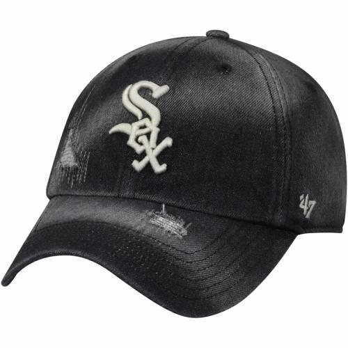 '47 シカゴ 白 ホワイト 黒 ブラック バッグ キャップ 帽子 メンズキャップ メンズ 【 Chicago White Sox Loughlin Clean Up Adjustable Hat - Black 】 Black