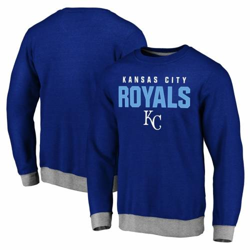 FANATICS BRANDED カンザス シティ ロイヤルズ メンズファッション トップス スウェット トレーナー メンズ 【 Kansas City Royals Elevation Tri-blend Pullover Sweatshirt - Royal 】 Royal