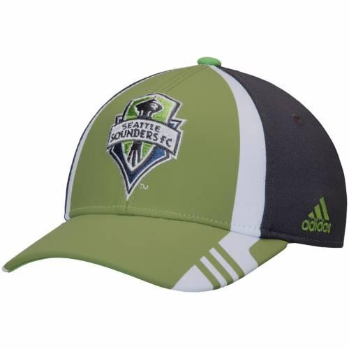 アディダス ADIDAS シアトル オーセンティック チーム 緑 グリーン バッグ キャップ 帽子 メンズキャップ メンズ 【 Seattle Sounders Fc Authentic Team Structured Adjustable Hat - Rave Green 】 Rave Green