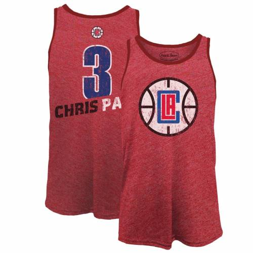 MAJESTIC THREADS マジェスティック クリス ポール クリッパーズ タンクトップ 赤 レッド & 【 RED MAJESTIC THREADS CHRIS PAUL LA CLIPPERS NAME NUMBER TRIBLEND TANK TOP 】 メンズファッション トップス タ