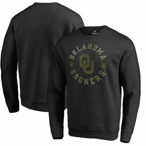 FANATICS BRANDED 黒 ブラック メンズファッション トップス スウェット トレーナー メンズ 【 Oklahoma Sooners Liberty Sweatshirt - Black 】 Black