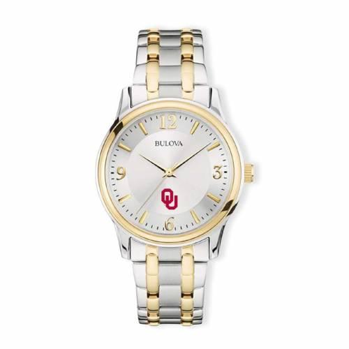 ブローバ BULOVA クラシック ウォッチ 時計 銀色 シルバー 金色 ゴールド 【 WATCH SILVER BULOVA OKLAHOMA SOONERS CLASSIC TWOTONE ROUND GOLD 】 腕時計 メンズ腕時計
