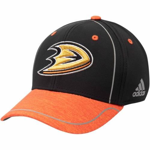 アディダス ADIDAS アルファ バッグ キャップ 帽子 メンズキャップ メンズ 【 Anaheim Ducks Alpha Flex Hat - Black/orange 】 Black/orange