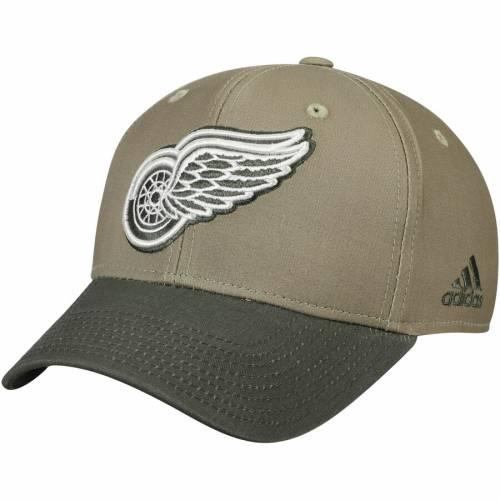 アディダス ADIDAS デトロイト 赤 レッド スナップバック バッグ キャップ 帽子 メンズキャップ メンズ 【 Detroit Red Wings Adjustable Snapback Hat - Khaki/olive 】 Khaki/olive
