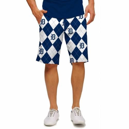 LOUDMOUTH デトロイト タイガース ショーツ ハーフパンツ 紺 ネイビー 白 ホワイト 【 NAVY WHITE LOUDMOUTH DETROIT TIGERS SHORTS 】 メンズファッション ズボン パンツ