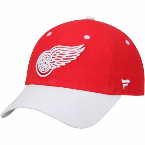 FANATICS BRANDED デトロイト 赤 レッド バッグ キャップ 帽子 メンズキャップ メンズ 【 Detroit Red Wings Iconic Fundamental Adjustable Hat - Red/white 】 Red/white