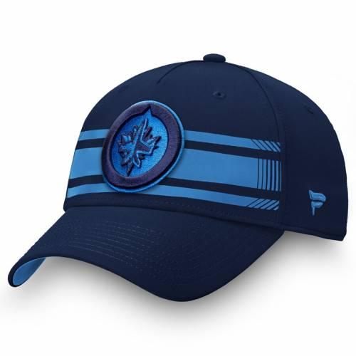 FANATICS BRANDED ジェッツ ストライプ スピード バッグ キャップ 帽子 メンズキャップ メンズ 【 Winnipeg Jets Iconic Stripe Speed Flex Hat - Navy/blue 】 Navy/blue