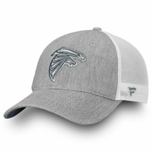 NFL PRO LINE BY FANATICS BRANDED アトランタ ファルコンズ トラッカー バッグ キャップ 帽子 メンズキャップ メンズ 【 Atlanta Falcons Lux Slate Trucker Adjustable Hat - Heathered Gray/white 】 Heathered Gray/white