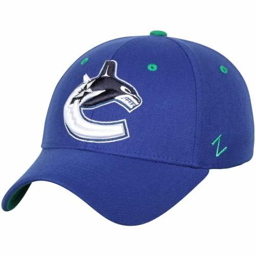 ZEPHYR 青 ブルー バッグ キャップ 帽子 メンズキャップ メンズ 【 Vancouver Canucks Breakaway Flex Hat - Blue 】 Blue