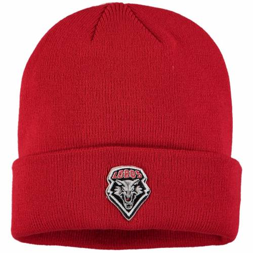 TOP OF THE WORLD ニット 赤 レッド バッグ キャップ 帽子 メンズキャップ メンズ 【 New Mexico Lobos Jack Frost Cuffed Knit Hat - Red 】 Red