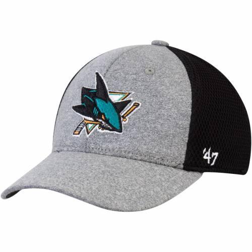 '47 灰色 グレー グレイ バッグ キャップ 帽子 メンズキャップ メンズ 【 San Jose Sharks Claystone Contender Stretch Fit Hat - Gray 】 Gray