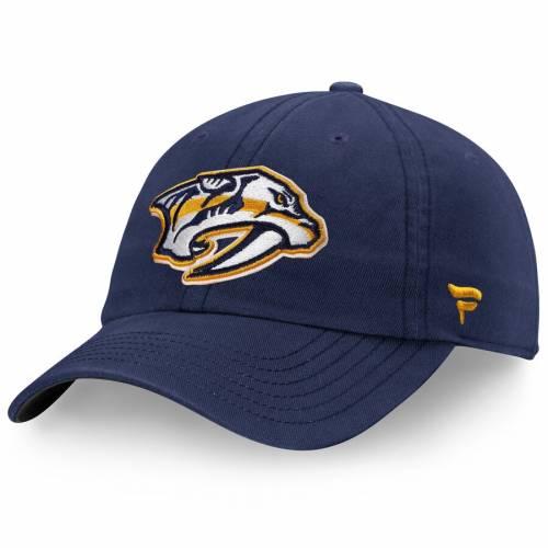 FANATICS BRANDED 紺 ネイビー バッグ キャップ 帽子 メンズキャップ メンズ 【 Nashville Predators Elemental Slouch Adjustable Hat - Navy 】 Navy