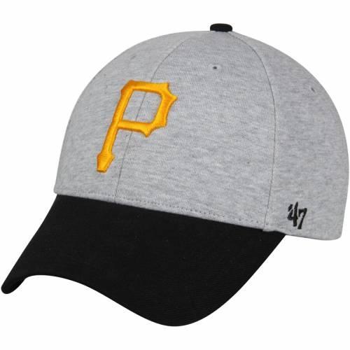 '47 ピッツバーグ 海賊団 バッグ キャップ 帽子 メンズキャップ メンズ 【 Pittsburgh Pirates Retent Mvp Adjustable Hat - Heathered Gray/black 】 Heathered Gray/black