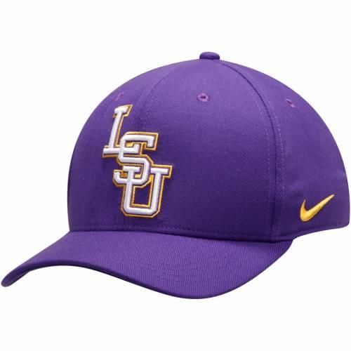 ナイキ NIKE タイガース クラシック ロゴ スウッシュ スウォッシュ 紫 パープル バッグ キャップ 帽子 メンズキャップ メンズ 【 Lsu Tigers Classic Logo 99 Swoosh Flex Hat - Purple 】 Purple