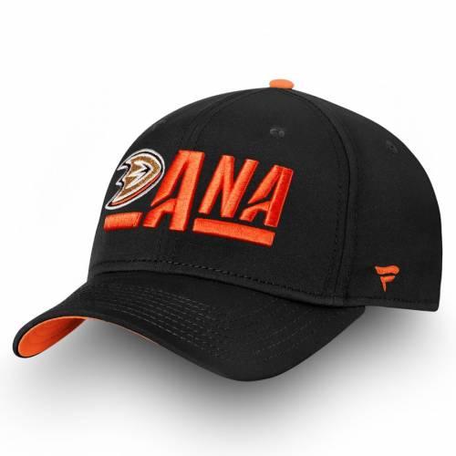 FANATICS BRANDED オーセンティック プロ アルファ バッグ キャップ 帽子 メンズキャップ メンズ 【 Anaheim Ducks Authentic Pro Rinkside Alpha Adjustable Hat - Black/orange 】 Black/orange