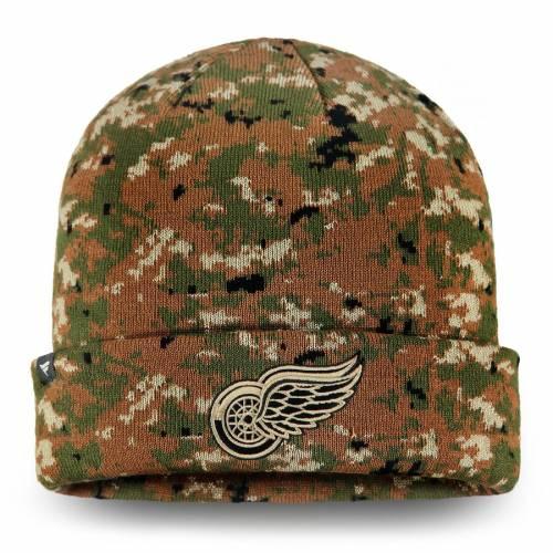FANATICS BRANDED デトロイト 赤 レッド オーセンティック プロ ニット バッグ キャップ 帽子 メンズキャップ メンズ 【 Detroit Red Wings Authentic Pro Military Appreciation Cuffed Knit Hat - Camo 】 Camo