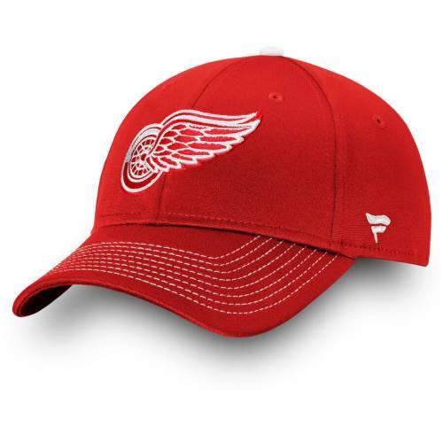 FANATICS BRANDED デトロイト 赤 レッド アルファ バッグ キャップ 帽子 メンズキャップ メンズ 【 Detroit Red Wings Depth Alpha Adjustable Hat - Red 】 Red