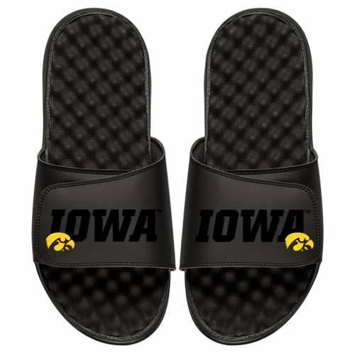 ISLIDE 子供用 サンダル 黒 ブラック キッズ ベビー マタニティ ジュニア 【 Iowa Hawkeyes Youth Tonal Pop Slide Sandals - Black 】 Black