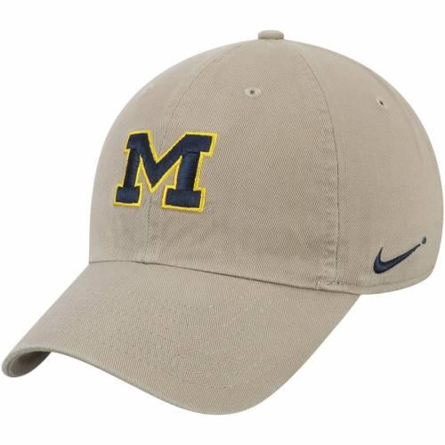 ナイキ NIKE ミシガン ロゴ パフォーマンス 白 ホワイト バッグ キャップ 帽子 メンズキャップ メンズ 【 Michigan Wolverines Heritage 86 Logo Performance Adjustable Hat - White 】 Khaki