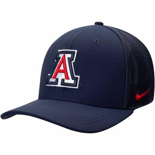 ナイキ NIKE アリゾナ スウッシュ スウォッシュ パフォーマンス 赤 レッド バッグ キャップ 帽子 メンズキャップ メンズ 【 Arizona Wildcats Aerobill Meshback Swoosh Performance Flex Hat - Red 】 Navy