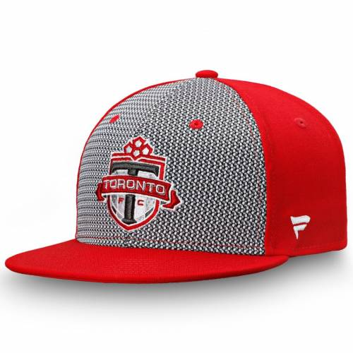 FANATICS BRANDED トロント バッグ キャップ 帽子 メンズキャップ メンズ 【 Toronto Fc Versalux Fitted Hat - Gray/red 】 Gray/red