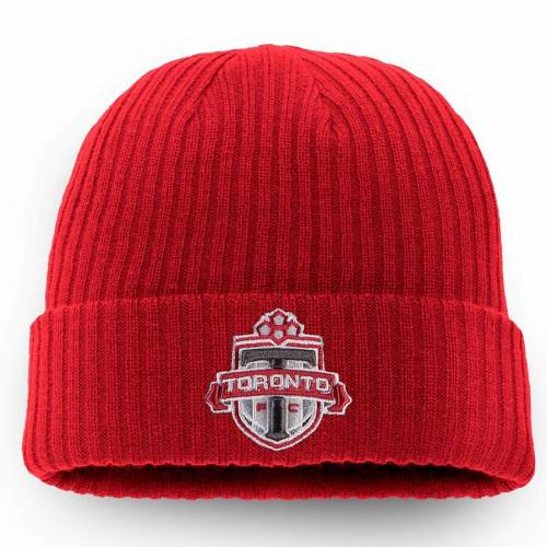 FANATICS BRANDED トロント コア ニット 赤 レッド バッグ キャップ 帽子 メンズキャップ メンズ 【 Toronto Fc Core Cuffed Knit Hat - Red 】 Red
