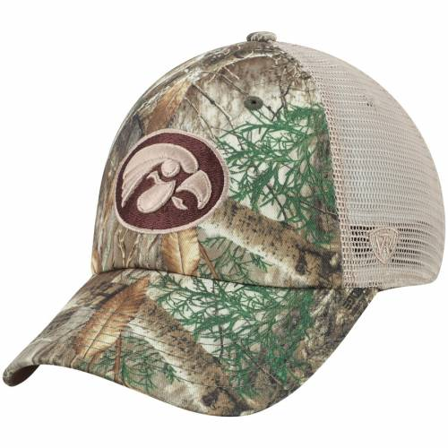 TOP OF THE WORLD トラッカー スナップバック バッグ キャップ 帽子 メンズキャップ メンズ 【 Iowa Hawkeyes Acorn Trucker Snapback Hat - Realtree Camo 】 Realtree Camo