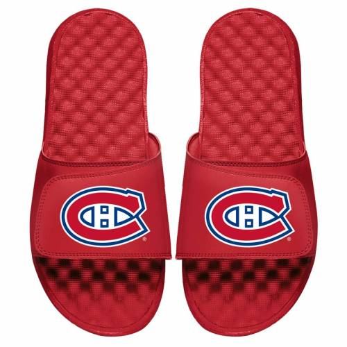 ISLIDE 子供用 ロゴ サンダル 赤 レッド 【 SLIDE RED ISLIDE MONTREAL CANADIENS YOUTH PRIMARY LOGO SANDALS 】 キッズ ベビー マタニティ