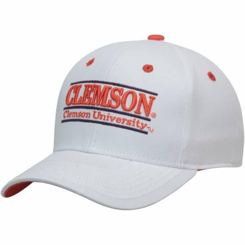 THE GAME タイガース クラシック スナップバック バッグ 白 ホワイト キャップ 帽子 メンズキャップ メンズ 【 Clemson Tigers Classic Bar Adjustable Snapback Hat - White 】 White