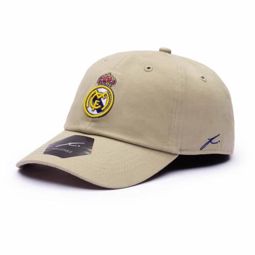 FI COLLECTION クラシック バッグ キャップ 帽子 メンズキャップ メンズ 【 Real Madrid Desert Classic Adjustable Hat - Tan 】 Tan