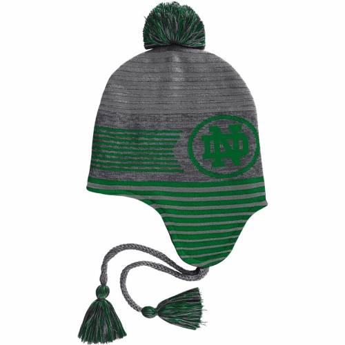 アンダーアーマー UNDER ARMOUR ニット バッグ キャップ 帽子 メンズキャップ メンズ 【 Notre Dame Fighting Irish Tassle Knit Hat With Pom - Graphite 】 Graphite